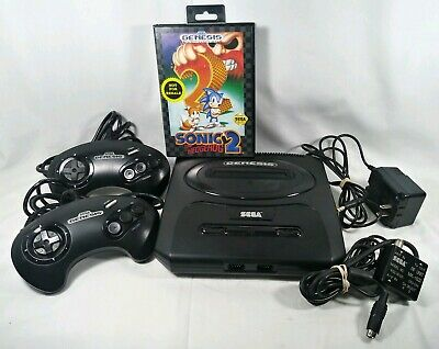 SEGA MK1631 Genesis Game Console with 2 Controllers Hookups Sonic the hedgehog 2