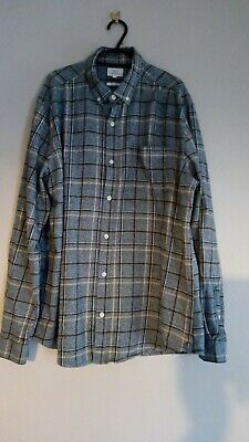 Mens Next Grey Grindle Yarns Plaid Shirt - Size XL - Pre Owned
