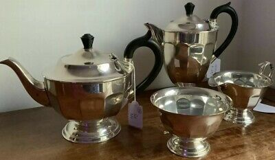 Vintage Silver Plated EPNS A1 Coffee Tea Set Viners Of Sheffield Made In England