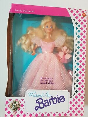 """Rare MIMB Vintage New Barbie Doll #9608 from 1990 - Wedding Day """"Barbie"""""""