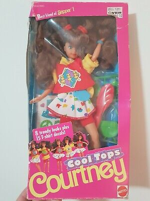 """Rare MIMB Vintage New Barbie/Skipper Doll #7079 from 1989 - Cool Tops """"Courtney"""""""