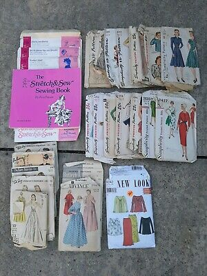 Lot of 22 - 1940's & Up Vintage/Antique Womens Sewing Patterns