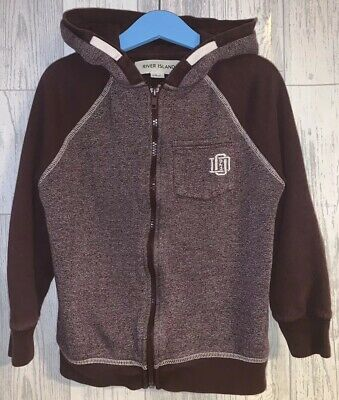 Boys Age 5-6 Years - River Island Zip Up Hooded Top