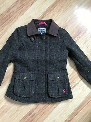 Girls Joules Tweed Jacket Coat Age 7-8 Country Fieldcoat BNWT