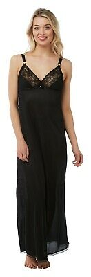 Ladies Full Length Maxi Slip Underskirt. Black Or White. Sizes 6 10 12 14 16 20