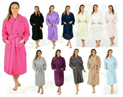 Luxury Egyptian Cotton Bath Robe Towelling Dressing Gown Velour Terry Towel Soft