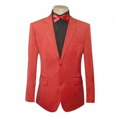 Men's Red Two-Button Microfibre Coloured SUIT