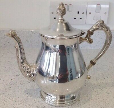 Vintage Silver Plated Teapot WiTh Ornate Handle And Spout