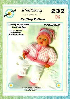 "DOLLS KNITTING PATTERN no 276 for //ANNABELL 18/""//19/"" doll by Daisy-May."
