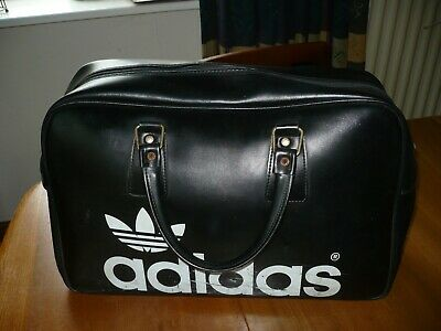 Vintage 1970's Adidas Peter Black Keighley Large Holdall/ Sports Bag.
