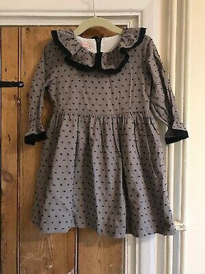 La Coqueta Girls Grey And Black Dress Age 3/4