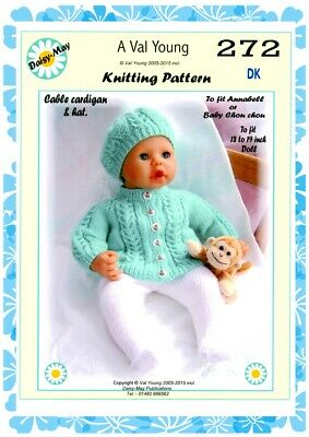 """1  DOLLS KNITTING PATTERN 17/""""//18/"""" ANNABEL doll No.266 by Val Young"""