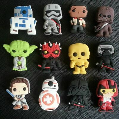 12 x Star Wars Shoe Charms Made For Croc shoes Crocs Jibbitz Charm BB8