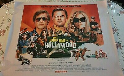 Once Upon a Time in Hollywood Original UK Quad Poster (2019) FN Di Caprio Pitt