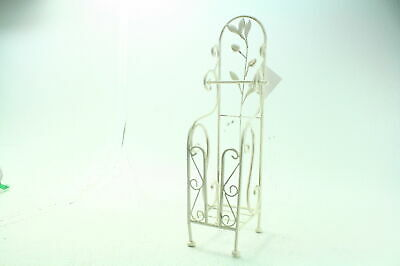 Deco 79 63148 Decorative Ivy Metal Toilet Paper Holder 24 x 8 Inches White