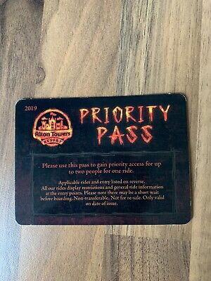 Alton Towers Wickerman FAST TRACK Priority Pass RARE
