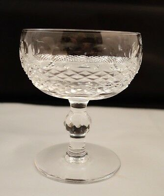 "Waterford Cut crystal Colleen Champagne dessert tall sherbert Glass 4.5"" MINT"