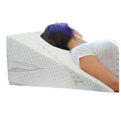 Bamboo Bed Wedge Pillow for Back Pain Snoring Respiratory Problem Hypo Allergeni