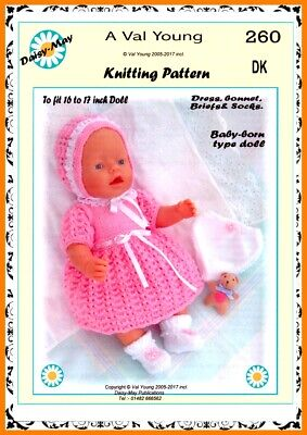 1 DOLLS KNITTING PATTERN to fit a 10 to 11 inch Doll No 275.by Daisy-May.