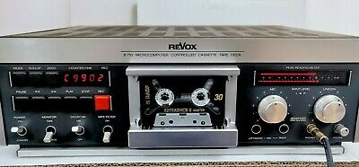 REVOX B710 3Head Tapedeck Serviced Deluxe New Black Body Trim Low Use Excellent