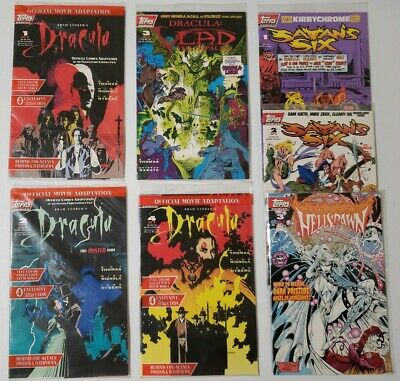 Dracula And Satan's Six Topps Comic Lot Auction In Mint Condition with cards