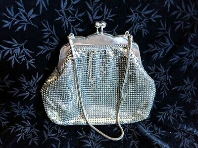 Antique Chain Mail Silver Mesh Clutch Purse Western Germany
