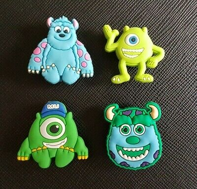 4 x Monsters Inc University Shoe Charms Made For Croc shoes Crocs Jibbitz Charm