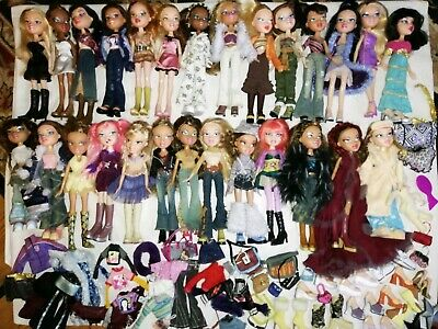 Bratz Original Doll Bundle x 27 + Clothes Shoes Accessories Rare Lot Finora etc.