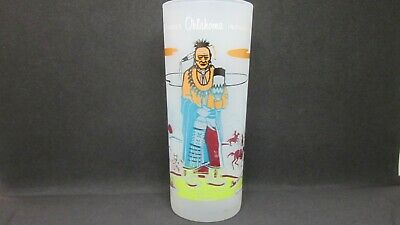 KNOX OIL CO Glass ACEE BLUE EAGLE Famous OKLAHOMA INDIANS Pawnee RULING HIS SUN