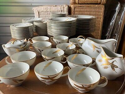 Meito Norleans China Midas Pattern Occupied Japan 84 PIECE SET RARE 12 SETTINGS