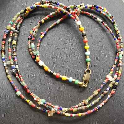Antique Afghanistan Old Rare Beautiful Glass beads Necklace