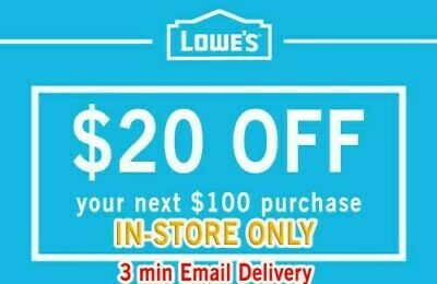 THREE Lowes $20 Off $100 Email Delivery!!