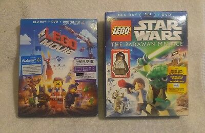 The Lego Movie/Star Wars The Padawan Menace with Young Han Solo Lego Figure. DVD