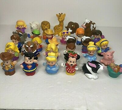 Fisher Price Little People Lot Of 30 Figures Princess Superman Woody Animals