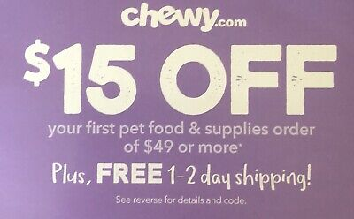 $15 Off $49 Online Chewy CODE