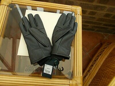 House Of Fraser Howick Gents Black Leather Gloves Large