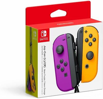 Joy-Con Controller Nintendo Switch Neon Purple & Orange (L-R) * 2019 Controllers