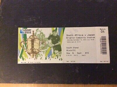 South Africa v Japan match ticket from Rugby World Cup 2015 played in Brighton
