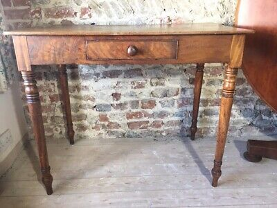 19th century mahogany single drawer side table, with drawer.