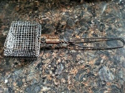 Antique Primitive Soap Saver Wire Metal Country Home. Kitchen Bath .