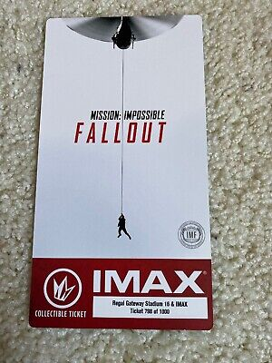 IMAX Collectible Ticket Mission: Impossible Fallout