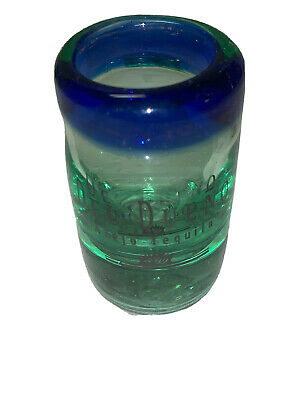 """Del Dueno Ahejo Tequila Shot Glass Shooter Set of 6 Hand Blown Glass Bar Ware 3"""""""