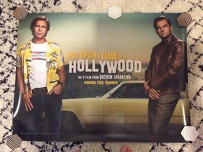 """2 X ONCE UPON A TIME IN HOLLYWOOD QUAD UK cinema posters. 30""""x40"""""""