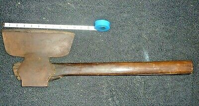 Vintage Unmarked Hewing Axe: 10 inch blade w/ 24 inch handle: 6 lb 10 oz