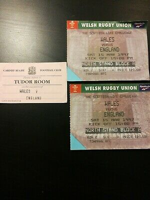 15/03/19 Rugby Union Ticket: Wales v England & RARE Tudor Room stub - LOOK