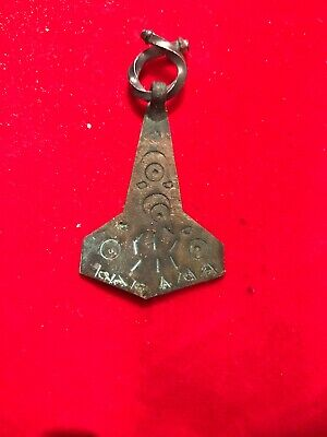 Unique Ancient Viking Scandinavian Thor Hammer Amulet  8-10th Century AD.