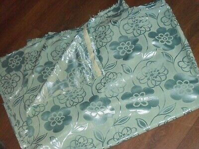 1950s 60s VINTAGE FABRIC LARGE PIECES CURTAINS HEAVY 100% COTTON SILKY BROCADE