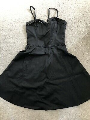 Womens Abercrombie And Fitch Dress, Black Leather, Size XS, BNWT, Casual