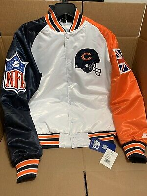 LIMITED EDITION 2019 Chicago Bears Starter Black Label London NFL 100 Jacket L