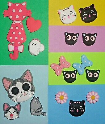 Cat  Shoe Charms shoe Accessories  Cake Toppers NOT crocs Fits Them